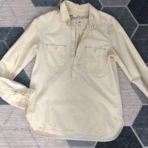 MADEWELL | Casual button up long sleeve shirt